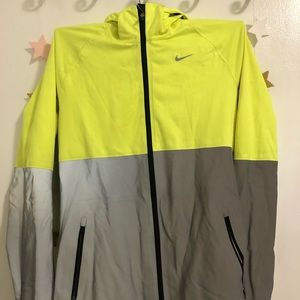nike neon and reflective jacket